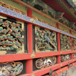 Wall of Japanese Shinto Buddhist Temple — Stock Photo #39984773