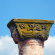 Stock Photo: Ornamented late RomDoric Column