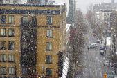 Snowstorm in downtown Vancouver — Foto de Stock