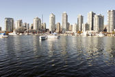 Yaletown and False Creek from Granville Island — Stock Photo
