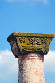 Ornamented late Roman Doric Column — Stock Photo
