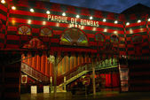 Ponce famous old firestation Parque De Bomba at dusk — Stockfoto