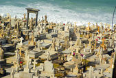Old San Juan Graveyard by the sea — Foto Stock