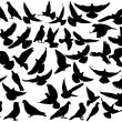 Dove silhouettes — Vector de stock #12736726