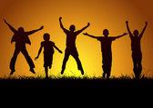 Çocukların sevinci — Vector de stock