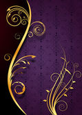 Or fond violet floral — Vecteur