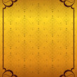 Golden background and frame — Image vectorielle