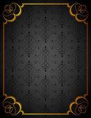 Cadre et fond noir — Vecteur