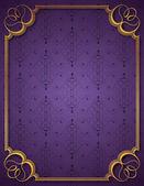 Marco y fondo púrpura — Vector de stock