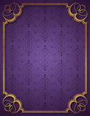 Purple background and frame — Vettoriale Stock