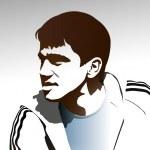 Young footballer — Stock Vector