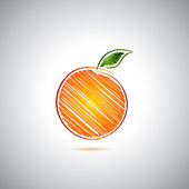 Orange logo — Vector de stock