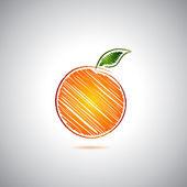 オレンジ色のロゴ — ストックベクタ