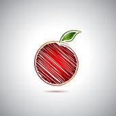 Kırmızı elma logosu — Stock Vector