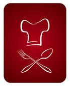 Aşçı logosu — Vector de stock