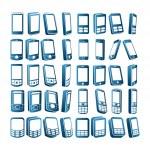 Cep telefonları — Stock Vector