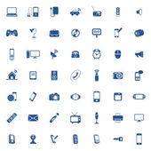 Technology icon set — Vector de stock