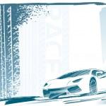Sport car frame — Stock Vector