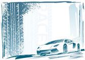 Spor araba çerçeve — Stok Vektör