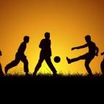 Beş çocuk ve spor — Stock Vector #22022993