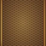 Köşe desenleri kahverengi duvar kağıdında — Stock Vector #24646579