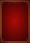 Köşe desenleri kırmızı duvar kağıdında — Wektor stockowy