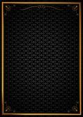 Köşe desenleri siyah duvar kağıdında — Stock Vector