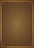 Köşe desenleri kahverengi duvar kağıdında — Stock Vector