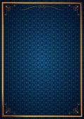 Köşe desenleri mavi duvar kağıdında — Stock Vector