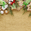 Foto Stock: Christmas Ginger and Honey cookies background.