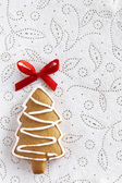 Christmas Ginger fir tree on white background — Stock Photo