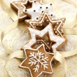 Christmas card background with Ginger cookies — Stock Photo #13538181
