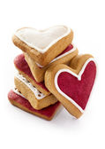 Ginger Heart shaped cookies for Valentine — Stock Photo
