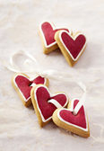 Ginger Hearts for Valentine — Stock Photo
