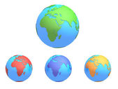 Planet earth with different colors — Stok fotoğraf