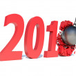 Stock Photo: Year 2013 changes to 2014