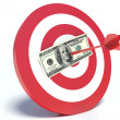 Success in Business, Dollar and Dart — Stock Photo