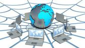 Global computer network. Web — Stockfoto