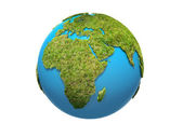 Green Earth on a white background — Stock Photo