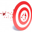 Dart hits a target and hit it — Stock Photo