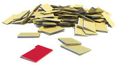 Pile of folders. desired folder — Stock Photo