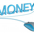 Computer mouse and word Money - business concept — Stock Photo #43210231