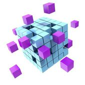 Business concept cube — Stock Photo