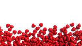 Red hearts on a white background — Stock Photo