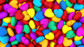 Background composed of many colorful hearts — Stock Photo