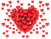 Big red heart consisting of small hearts — Stock Photo