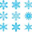 Royalty-Free Stock Imagem Vetorial: Snowflakes vector set