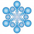Royalty-Free Stock Imagem Vetorial: Decorative abstract snowflake with gear.