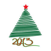 Christmas tree. Year 2013. — Stock Vector