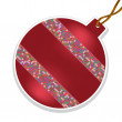 Vector de stock : Vector christmas ball with beads